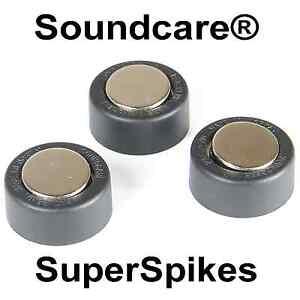 SOUNDCARE PLUTO SUPERSPIKES NEW SPIKE LOUDSPEAKER SPIKES - ISOLATION FOOT.