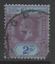 Fiji - 1927, 2s Purple & Blue/blue stamp - Used - SG 239