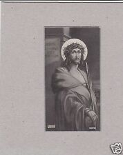 Vintage Catholic Holy Bible Prayer Card   Made In USA  Jesus 1936