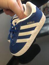 Baby Boys Adidas Gazelle Size 4 Blue Suede