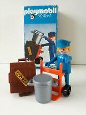 Playmobil 3323 v1 - Carrier / Dienstmanne mit Karre (Klicky, OVP, LineArt Box) 2