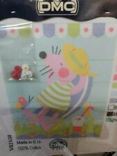 DMC long stitch kit Pink mouse sunbathing