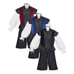3pc Renaissance Doublet for Men, Lace up Medieval Renaissance breeches Cosplay