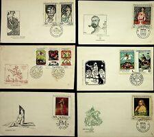 CESKOSLOVENSKO 1968-70 10 FDC NICE THEMES