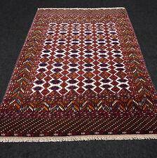 Orient Teppich Afghan 168 x 117 cm Tekke Seidenteppich Turkmen Jomud Carpet Rug