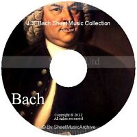 Massive Professional Johann Sebastian Bach Sheet Music Collection Archive DVD