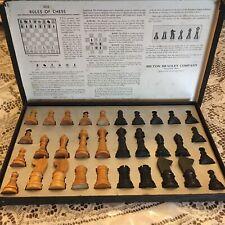Vintage Milton Bradley chess men set #4715