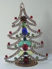 Christbaum Aufsteller Weihnachtsbaum Christmas tree  Strass Gablonz  Böhmen Glas