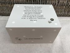 Shabby Personalised Chic Special Best Friend Gift Keepsake Memory Jewellery Box