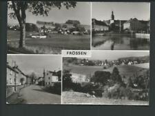 FRÖSSEN << 4 Ans. u.a. Teich m. Kirche, Panorama, Straßenansicht....>> s/w AK