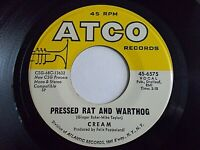 Cream Pressed Rat & Warthog / Anyone For Tennis 45 1968 ATCO Vinyl Record