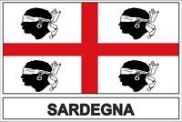 Sticker adesivi adesivo bandiera sardinia sardegna