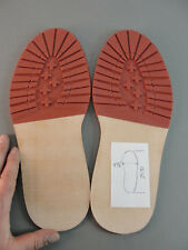 REPLACEMENT FULL LEATHER RED RUBBER BOOT SHOE REPAIR LUG SOLE NEW SIZE 11 NO MAR
