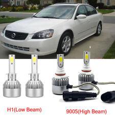 4pcs H1+9005 LED Headlight Kit Light Bulb For Nissan Altima 2006-2005  Hi/Low