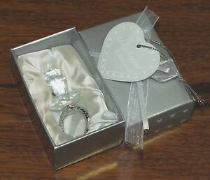 Choice Crystal By: Fashion Craft Crystal Baby Binky / Pacifier Crystal Glass