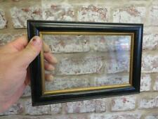 """really old picture frame black fits a 8 inch  X 5 """" photo or painting"""