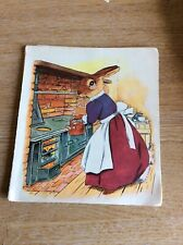 b3a ephemera 1960s Small Book Plate Picture Mother Rabbit With Kettle