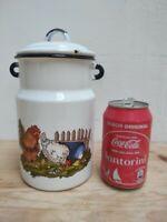 Milkmaid teapot bowl jar enameled vintage munder münder email доярка