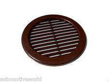 """Brown Circle Air Vent Grille 4"""" 100mm Round Wall Ceiling Duct Ventilation Cover"""