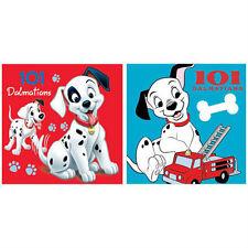 DISNEY lot 2 serviettes invités essuie mains carrée 101 DALMATIENS  30 x 30 cm