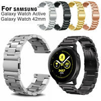 Replacement Watch Band 20mm Metal Strap For Samsung Galaxy Watch Active 42mm