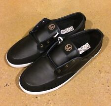 DVS Landmark Size 12 Black Leather BMX DC Skate Deck Boat Shoes