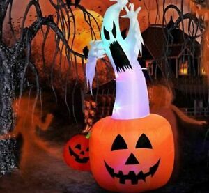 Halloween Inflatable Ghost Pumpkin Top Quality Color Changing LEDs Blow Up Ghost