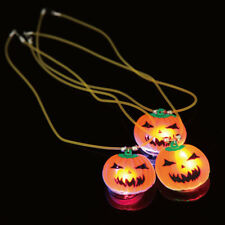 Pumpkin Pandant Necklace Flashing LED Light Up Halloween Party Prop Gift Dulcet
