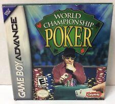 World Championship Poker - Nintendo Game Boy Advance, 2004 - Complete w/Box