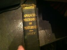ADVANCED MECHANICS OF MATERIALS  F SEELY 1932    BOX59