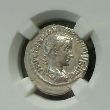 ROMAN EMPIRE GORDIAN III, AD 238-244 AR DOUBLE-DENARIUS DANUBE SILVER XF H377