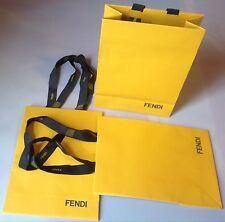 Authentic Fendi Yellow Paper Gift Bag