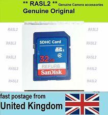 32 GB SanDisk SD-HC Memory Card For FujiFilm FinePix Digital Camera,HD CamCorder