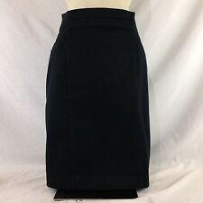 Women's Worthington Black Straight Pencil Back Slit Skirt Size 4