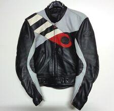 Veste moto de Hein Gericke cuir noir multicolore blouson moto taille 50 Nº 06