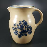 Vintage Pfaltzgraff Pottery 32 Oz Pitcher Folk Art Pattern Bluebird