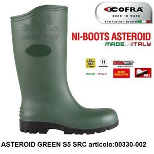 STIVALE ANTINFORTUNISTICA COFRA ASTEROID GREEN S5 SRC PVC ERGONITRIL AGRICOLTUR+