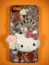 DIY Crown Hello Kitty Decoration for iPhone 4/5/6/7 Samsung Galaxy S3/S4/S5 etc.