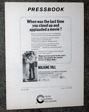 WALKING TALL original 1973 pressbook JOE DON BAKER