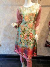 Pakistani Indian Costume en lin imprimé rose asiatique prêts Salwar Kameez 2019