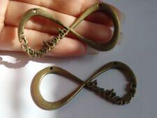 1 Conectores de Bronce Grande Infinity vínculos Encantos Antiguo Fabricación De Joyería Reino Unido cn 24