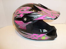 Fulmer JT1 Maze Youth Motocross DOT Girls Helmet Hot Pink Black Maze Youth Small