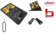 TECHLY MICRO LETTORE USB DI SCHEDE SD CON ADATTATORE SIM CARD