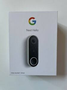 BRAND NEW Google Nest Hello Smart Wi-Fi Video Doorbell NC5100US Wired Ring Tech