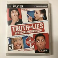 Truth or Lies - Playstation 3 PS3 Game - Complete