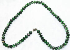 """5x8mm Green Red Ruby Zoisite abacus Gemstone Necklace 18"""" JN229"""