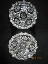 "Set of 2 Anchor Hocking Star of David Prescut/EAPC Glass 4-1/4"" Ashtrays USA"