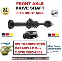 Pour VW Transporter Caravelle Bus 2.5TDi 2003-09 Neuf Essieu avant Droit Arbre