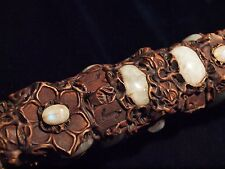 """16 1/2"""" hand-made runic wand set with Clear Quartz, Rainbow Moonstone and Runes"""