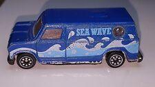 Vintage Unknown Maker SEA WAVE Van - BLUE w/WAVES - China - Die Cast car Vehicle
